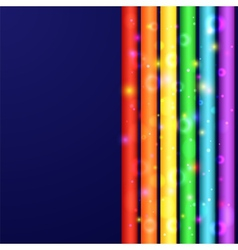 Colorful line background vector image vector image