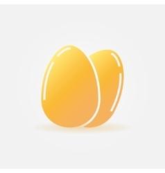 Eggs yellow icon or logo vector image