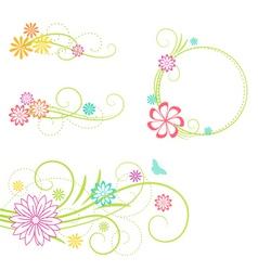 floral design elemen vector image vector image