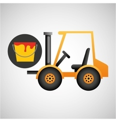 forklift truck construction and paint icon graphic vector image