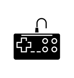 gamepad icon black sign on vector image