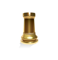 Gold Rook vector image