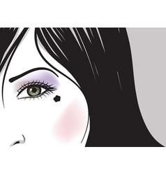 green eye girl vector image vector image