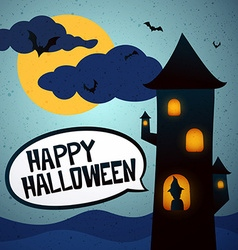 Happy Halloween tower vector image