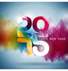 Happy New Year 2015 colorful celebration backgroun vector image vector image