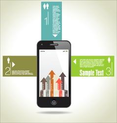 Infographics modern design background vector image vector image