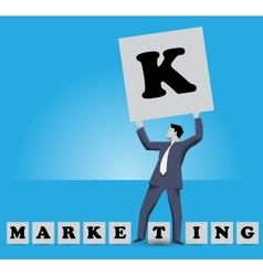 Market king business concept vector image