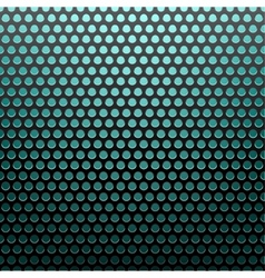 metal grid blue light background vector image vector image