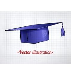 Mortarboard vector image