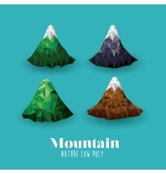 Mountain low poly design vector