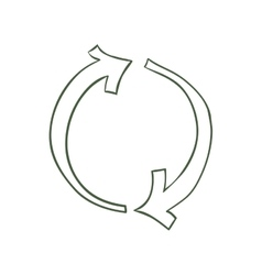 Sketch and circle arrow icon Direction design vector image vector image