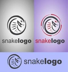 snake logo vector image vector image