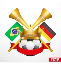 Sporting Poster with Soccer Ball vector image