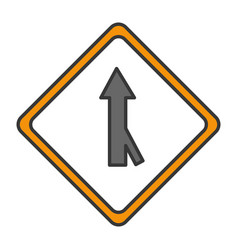 traffic signal one way vector image vector image