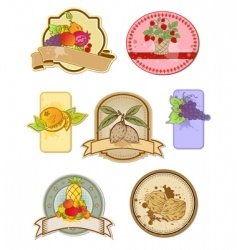 vintage food labels vector image vector image