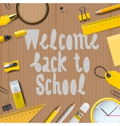 Welcome Back to school template vector image vector image