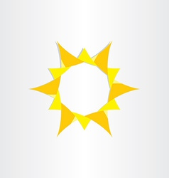 yellow sun sunshine icon background design vector image