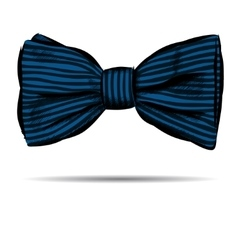 Hand drawn bow with striped vector