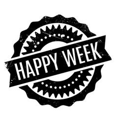 Happy week rubber stamp vector