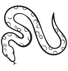 Black snake vector image