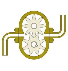 Gear pump vector image