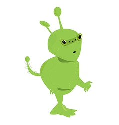 Green alien isolated vector