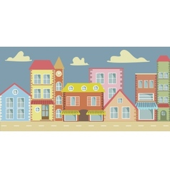 Cartoon town vector