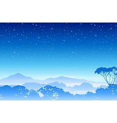 A Misty Forest Landscape vector image