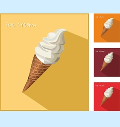 Icon with ice cream vector