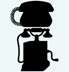 Two phones from different eras vector