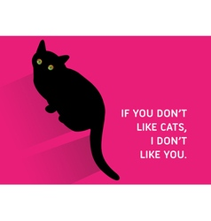 Cats quote vector