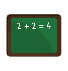 School green board with numbers graphic vector