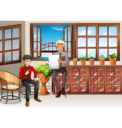 Business people working in the room vector