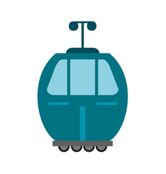 Cable car transport wheels vector