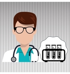 doctor laboratory tube chemistry vector image