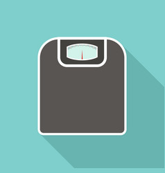 floor scales with long vector image vector image