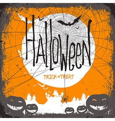 hallloween card design spider vector image