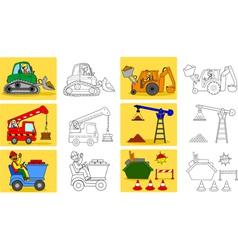 Heavy industry machineries vector