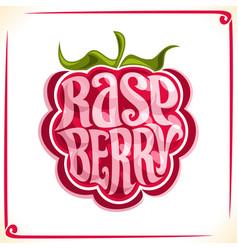 Logo for raspberry vector