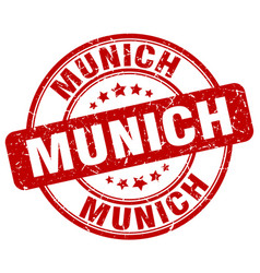 Munich stamp vector