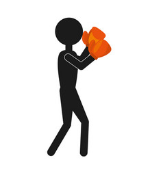 professional boxer avatar isolated icon vector image
