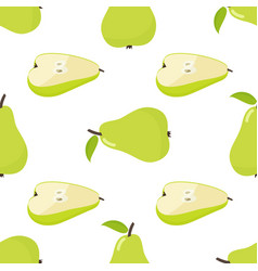 seamless pattern of pear vector image vector image