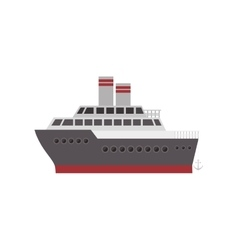 Silhouette color with cruise ship vector