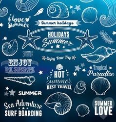 Summer icon set vector