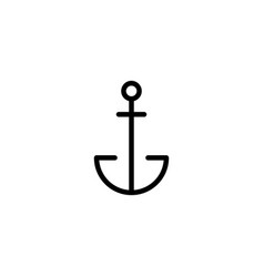 thin line anchor icon vector image vector image