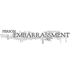 What is embarrassment text word cloud concept vector