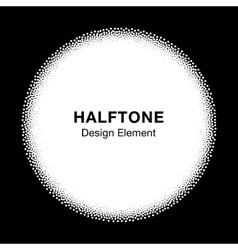 White abstract halftone dots circle vector