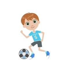 Young soccer player vector