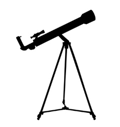 Silhouette of telescope vector