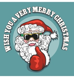 Wish you a very merry christmas emblem vector